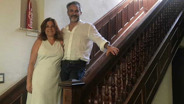 Andrea Gallina and his wife, owners of Paseo 206