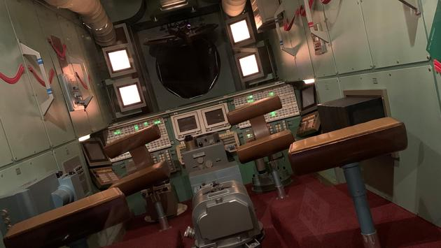 spaceship at Tommy Bartlett Exploratory in Wisconsin Dells