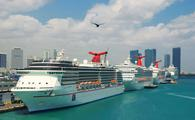 Carnival Cruise Line ships docked at PortMiami