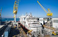 float-out ceremony at Fincantieri Jan. 14, 2021