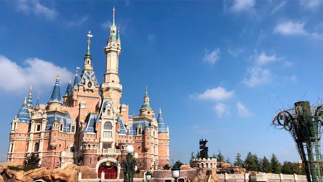 Enchanted Storybook Castle at Shanghai Disneyland in China