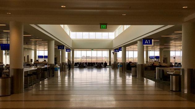Terminal at Charleston International Airport in South Carolina