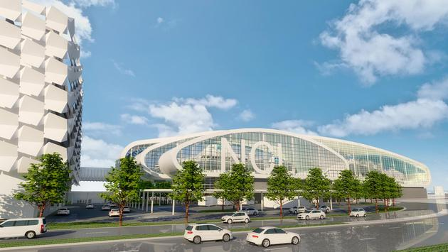 Rendering of Norwegian Cruise Line's new terminal at PortMiami