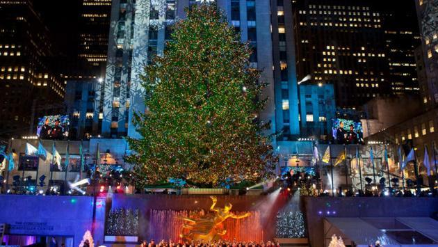 Christmas tree lighting at Rockefeller Center