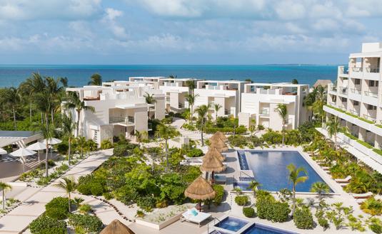 FOTO: Vista aérea de Beloved Playa Mujeres. (Foto de The Excellence Collection)