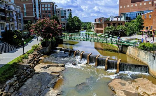 The Reedy River in Greenville, SC