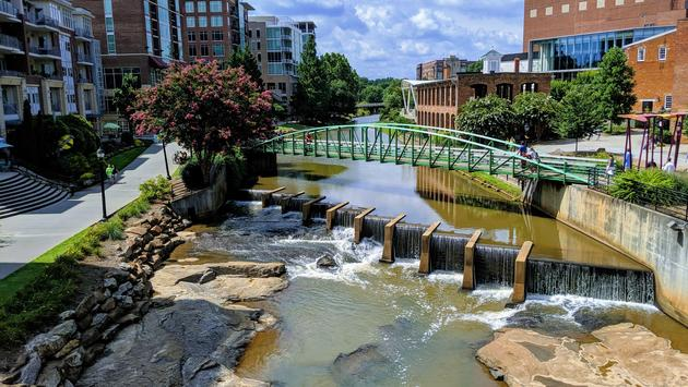 The Reedy River in Greenville, SC