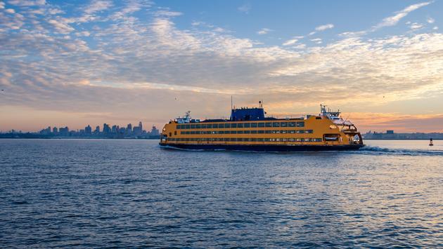 Staten Island Ferry bound for Manhattan, New York