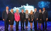Sky Princess ship-naming ceremony, held in Fort Lauderdale, Florida.