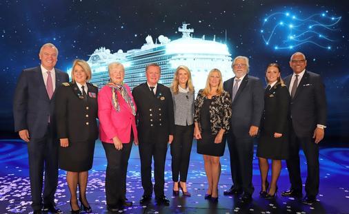 Sky Princess ship-naming ceremony, held in Fort Lauderdale, Florida.