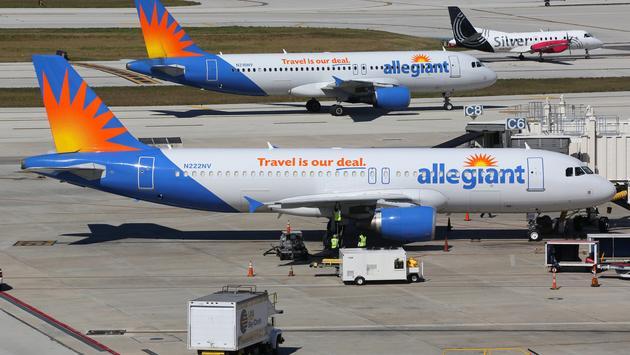 plane, allegiant, flight