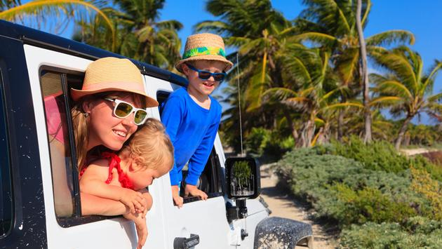Family during an off-road excursion