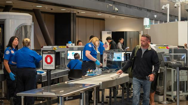 Security checkpoint at Seattle-Tacoma International Airport, TSA