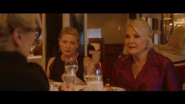 Candice Bergen and Dianne Wiest facing Meryl Streep