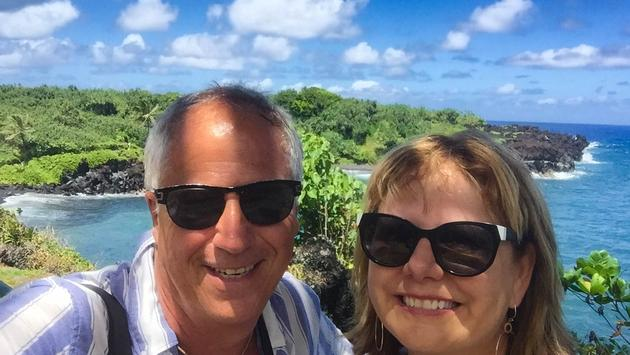Barb and Jim Byers in Hawaii