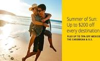 Summer of Sun: Up to $200 off every destination