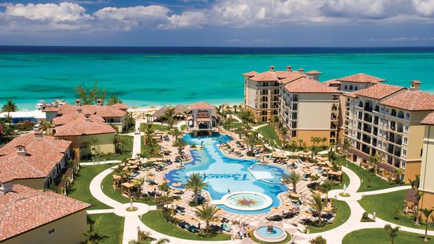 Aerial shot of Beaches Turks and Caicos