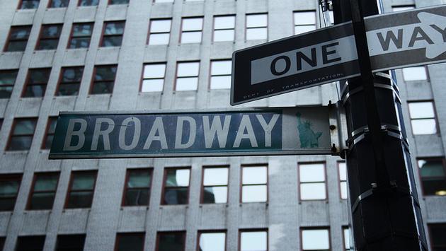 Broadway street sign, New York City