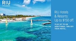 RIU Hotels & Resorts: Up to $150 off