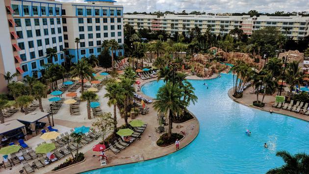 Pool view at Loews Sapphire Falls Resort at Universal Orlando