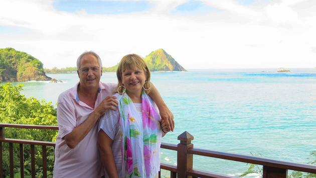 Barbara and Jim Byers in Saint Lucia