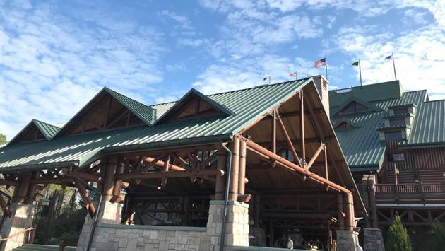 Entrance to Disney's Wilderness Lodge Resort
