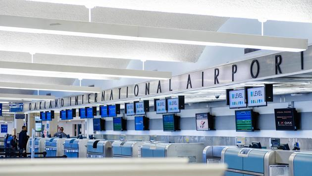 Check-in counters, Oakland International Airport