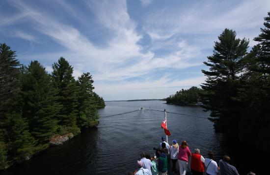 A boat ride on Lake Muskoka, Ontario
