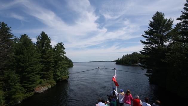 El barco de vapor HMS Segwun en el lago Muskoka en Ontario, Canadá. La aerolínea Porter Airlines opera vuelos a Muskoka desde Toronto.