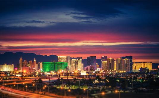 PHOTO: Las Vegas Skyline at Dusk (photo via welcomia / iStock / Getty Images Plus)