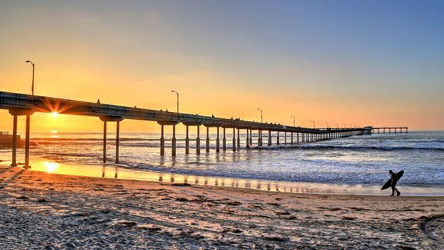 PHOTO: Ocean Beach near the pier in San Diego, California. (photo via JByard / iStock / Getty Images Plus)