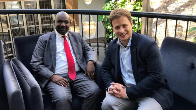 Narok County Kenya Govenor Samuel Tunai and Marc Kielburger