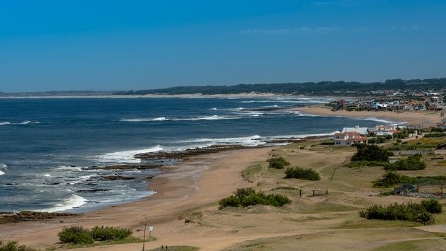The beach in La Paloma, Uruguay