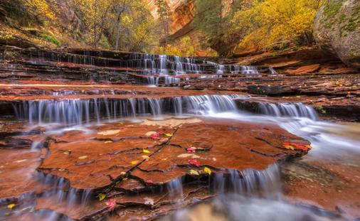 Waterfalls in Zion National Park, Utah