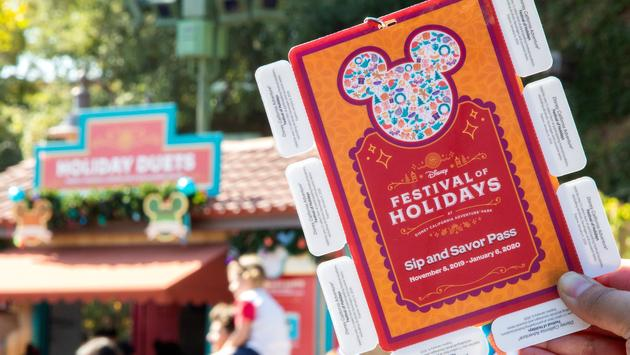 Disney Festival of Holidays 'Sip and Savor' Pass at Disney California Adventure Park.
