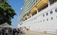 Cruise ship docked in Puerto Vallarta