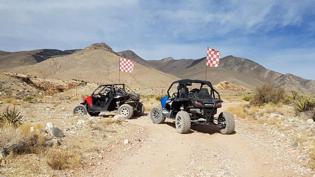 The group had a blast on our desert ATV tours with Vegas Off Road Tours