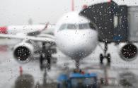 plane, rain, travel
