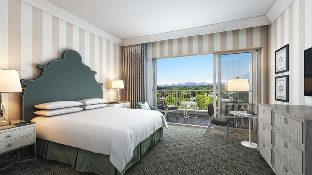 Luxury King guest room at The Beverly Hilton