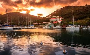 Sunset at Marina in Tortola