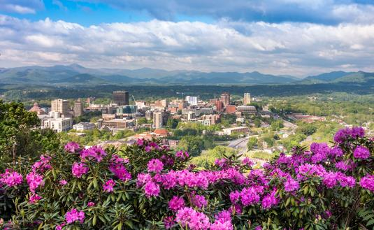 Spring time in Downtown Asheville