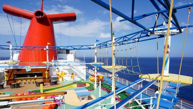 The ropes course aboard Carnival Cruise Line's Carnival Breeze