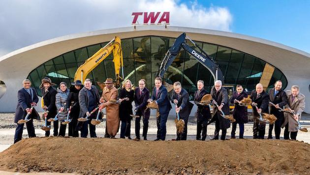 Groundbreaking ceremony for TWA Hotel at JFK International Airport