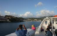 Approaching St. Georges harbor in Grenada