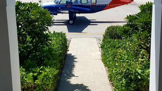 After landing at Ambergis Cay