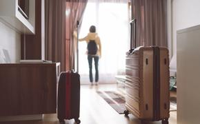 Tourist woman staying in luxury hotel