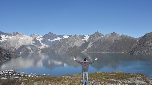 Victory Cruise Line Chairman John Waggoner in Alaska