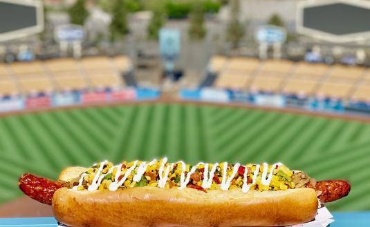 Giant Hot Dog, Dodger Stadium, MLB Stadium Food