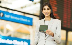 Indian millennium female business traveler