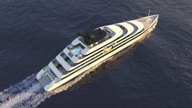 Rendering of Emerald Waterways' first yacht, Emerald Azzurra